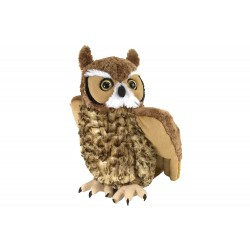 Wild Republic 12310 - Great Horned Owl Stuffed Animal - 12""