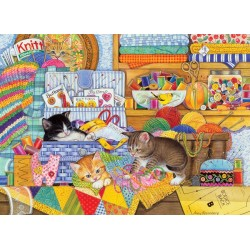 Cobble Hill 51792 - Puzzle 1000 pcs - Crafty Kittens