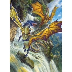 Cobble Hill 51808 - Casse-tête 1000 mcx - Waterfall Dragons