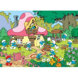 Cobble Hill 53203 - Casse-tête 500 mcx - Spring Cleaning at Smurfette's House