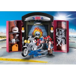 Playmobil 9108 - City Life - Coffret de l'atelier du motard