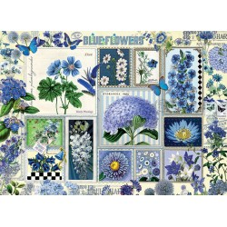 Cobble Hill 80043 - Casse-tête 1000 mcx - Blue Flowers
