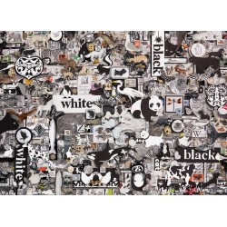 Cobble Hill 80033 - Casse-tête 1000 mcx - Black & White: Animals