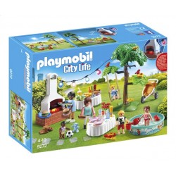 Playmobil 9272 - City Life - Famille et barbecue estivale