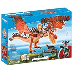 Playmobil 9459 - Dreamworks - Dragons - Rustik et Krochefer