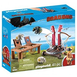 Playmobil 9461 - Dreamworks - Dragons - Gobber the Belch with Sheep Sling