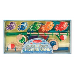 Melissa & Doug - Wooden Catch and Count Fishing Game