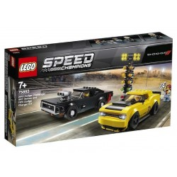 Lego 75893 - Speed Champions - Dodge Challenger SRT Demon 2018 et Dodge Charger R/T 1970