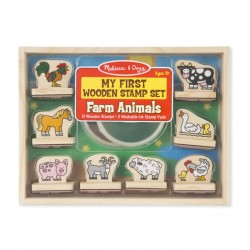 Melissa & Doug - My First Wooden Stamp Set - Farm Animals