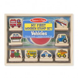 Melissa & Doug - My First Wooden Stamp Set - Vehicules