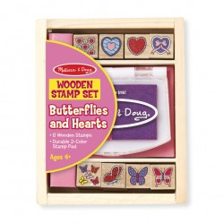 Melissa & Doug - Butterfly and Heart Stamp Set