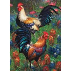 Cobble Hill 80217 - Casse-tête 1000 mcx - Roosters