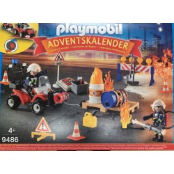 Playmobil 9486 - Advent Calendar - Construction Site Fire Rescue