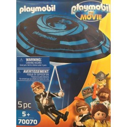 Playmobil 70070 - PLAYMOBIL: THE MOVIE Rex Dasher avec parachute