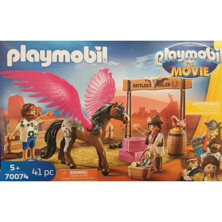 Playmobil 70074 - THE MOVIE Marla et Del avec cheval ailé