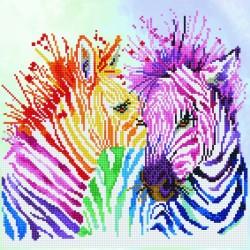 Diamond Dotz - Rainbow Zebras