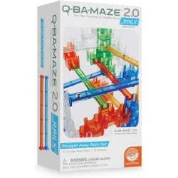 Q-BA-Maze Marble Run: Rails add-on Set