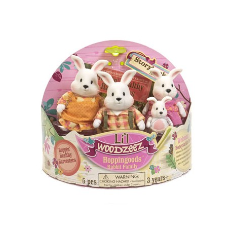 Li'l Woodzeez® 6006M - The Hoppingood™ Famille Lapin