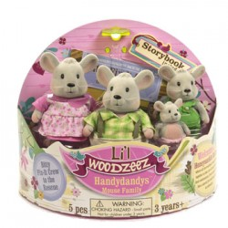 Li'l Woodzeez® 6003 - The Handydandy™ Mouse Family with Storybook