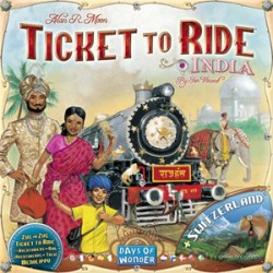 Les Aventuriers du Rail - Extension: Inde et Suisse - Days of Wonder
