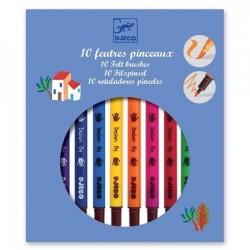 Djeco DJ08800 - 10 feutres pinceaux