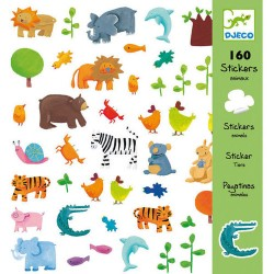 Djeco DJ08841 - 160 stickers animaux