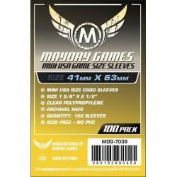 Mayday Games MDG-7039 - Protecteurs de cartes - 41 x 63mm - Paquet de 100