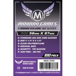Mayday Games MDG-7040 - Protecteurs de cartes - 56 x 87mm