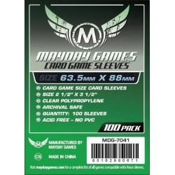 Mayday Games MDG-7041 - Protecteurs de cartes - 63.5 x 88mm