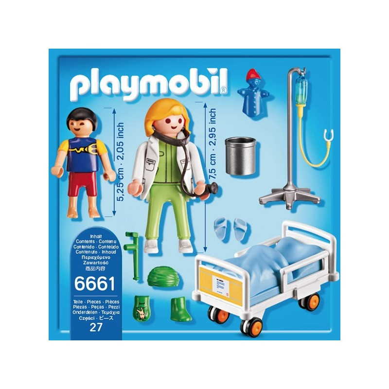 Playmobil 6661 Doctor With Child Plan 232 Te Jeux