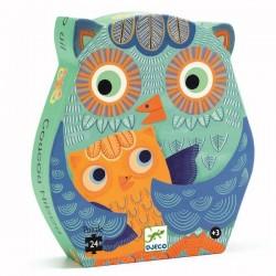Djeco DJ07215 - Jigsaw puzzle 24 pcs - Hello Owl