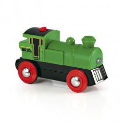 Brio World 33595 - Locomotive à pile bidirectionnelle verte