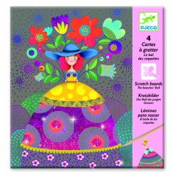 Djeco DJ09725 - 4 Scratch Boards - The beauties' Ball