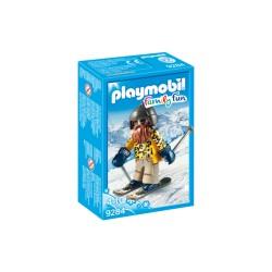 Playmobil 9284 - Family Fun - Skieur avec snowbiades