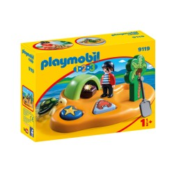 Playmobil 9119 - Île de pirate - 1.2.3