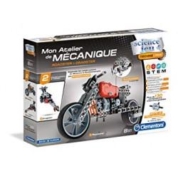 Clementoni 52216 - Roadster et Dragster - Science & Jeu - Mon atelier de mécanique