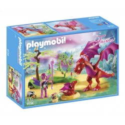Playmobil 9134 - Friendly Dragon with Baby - Fairies