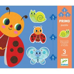 Djeco DJ07141 - Primo Puzzle 3, 4, 5 pcs - In the