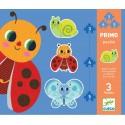 Djeco DJ07141 - Primo Puzzle 3, 4, 5 mcx - Dans le jardin