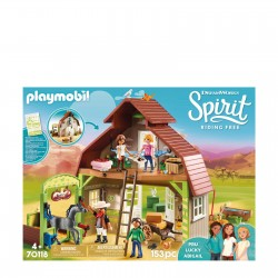 Playmobil 70118 - Spirit Riding Free - Barn with Lucky, Pru & Abigail