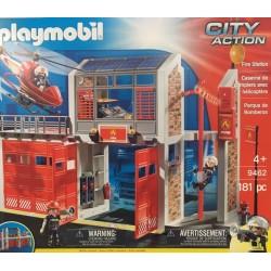 Playmobil 9462 - Caserne de pompiers avec hélicoptère