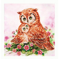 Diamond Dotz - Mother and baby owl