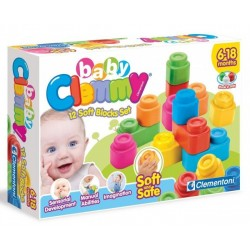 Clemmy Ensemble de 12 Blocs souples - Clementoni