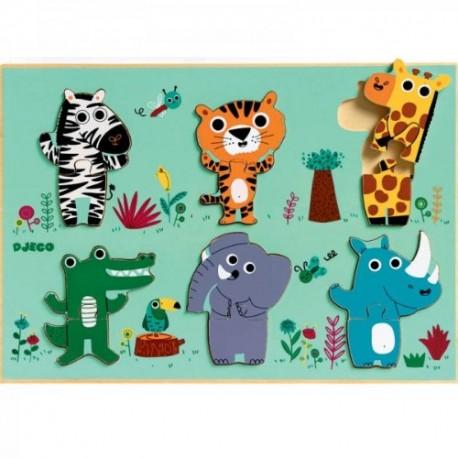 Djeco - Puzzle en bois - Coucou-Croco