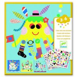 Djeco - Créer avec des stickers - Animaux marins