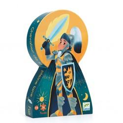 Djeco - Casse-tête silhouette 36 mcx - Chevalier de la pleine lune