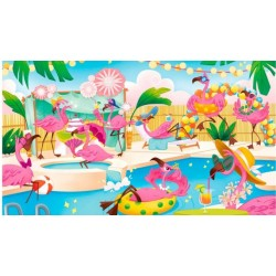 Puzzle Clementoni - Flamants brillants- 104 pièces