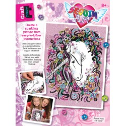 Sequin Art Craft Teen - Licorne