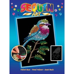 Sequin Art - Lilac Breasted Roller