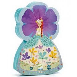 Djeco DJ07238 - Silhouette Puzzle 36 mcx - Spring princess